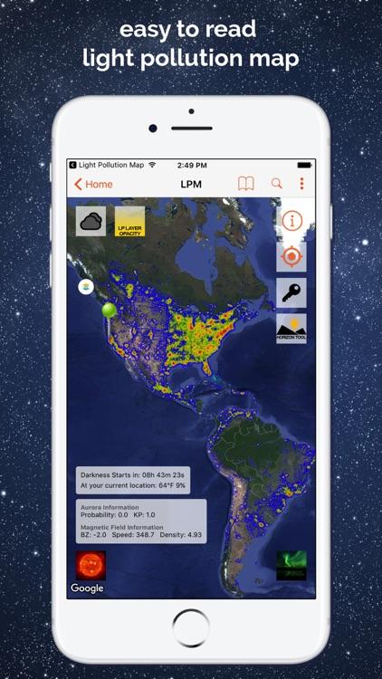 Light Pollution Map - Dark Sky