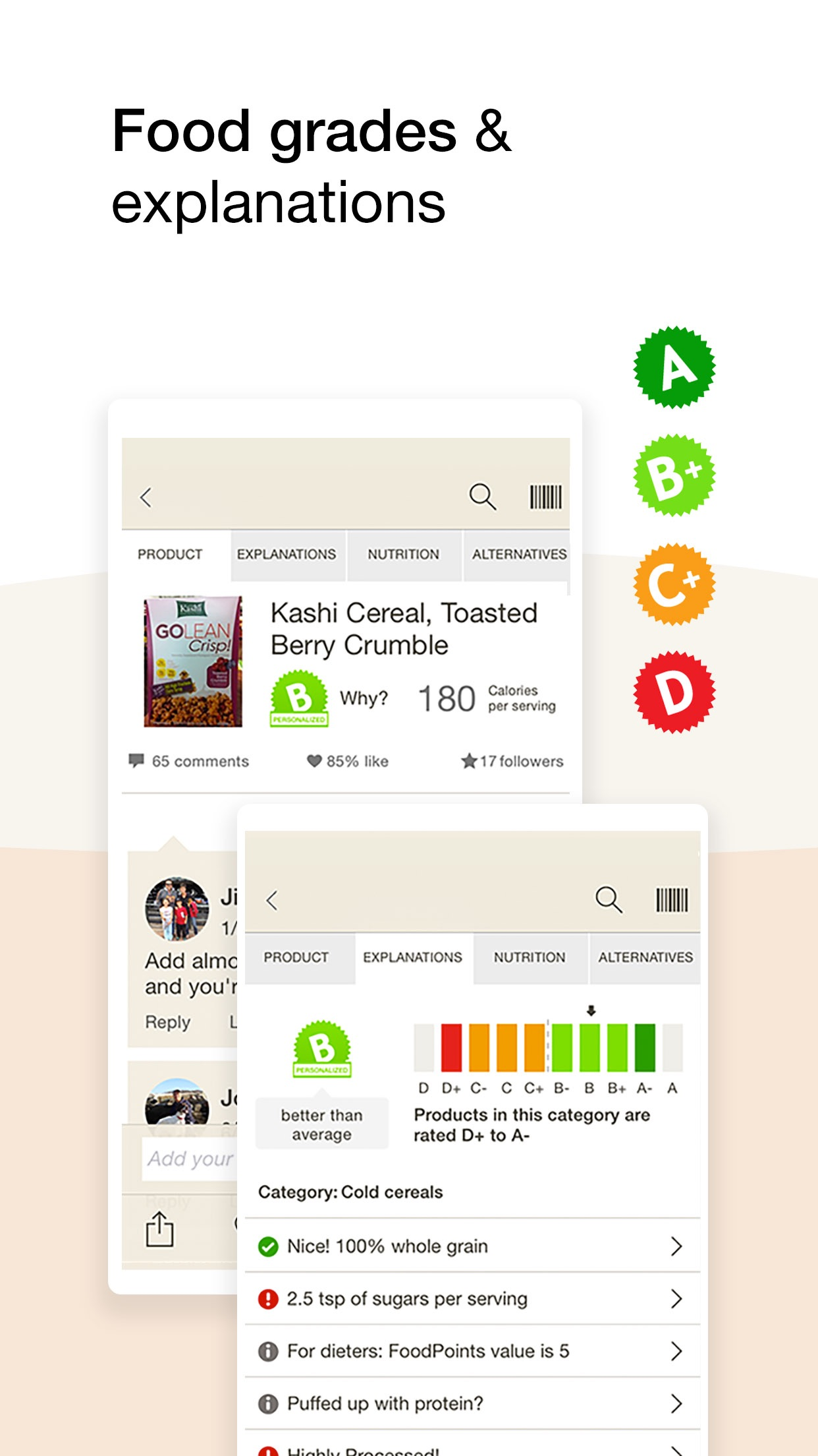Fooducate - Nutrition Tracker Screenshot