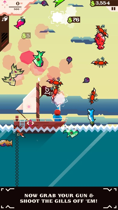 Ridiculous Fishing - A Tale of Redemption Screenshot on iOS
