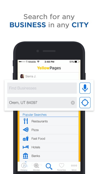 Yellow Pages review screenshots