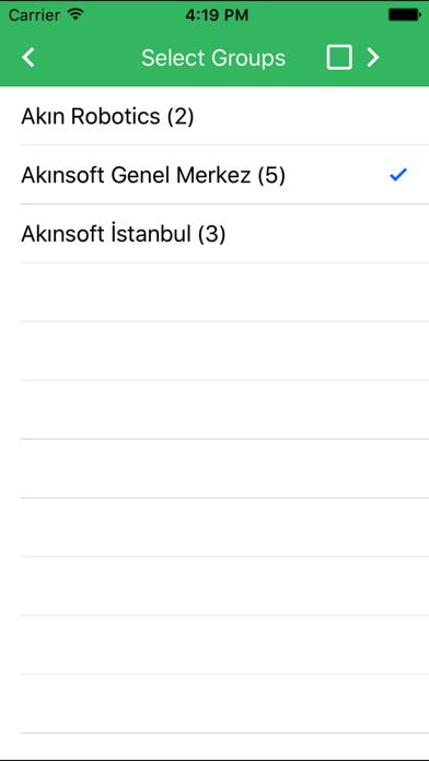 AKINSOFT Group Msg Screenshot