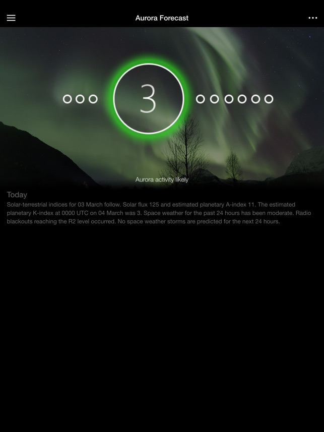 Space Weather App Screenshot