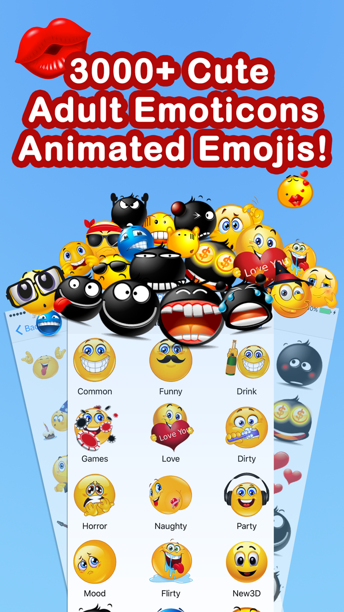 Adult Emoji Animated Emojis Screenshot