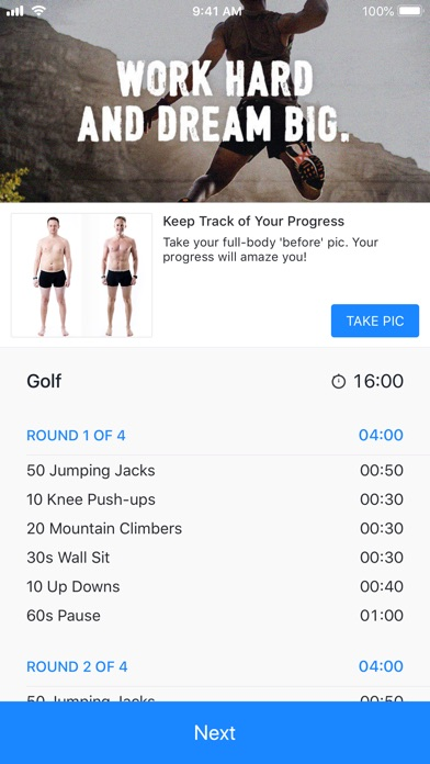 Runtastic Results Workout Plan
