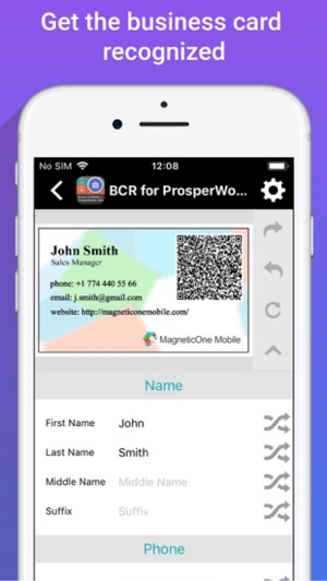 Biz card reader 4 prosperworks on the app store biz card reader 4 prosperworks on the app store reheart Choice Image