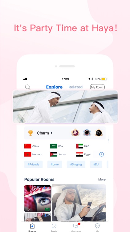 Haya-Global Voice Chat Rooms