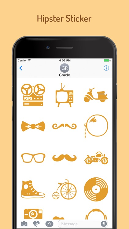 Hipster Stickers for iMessage