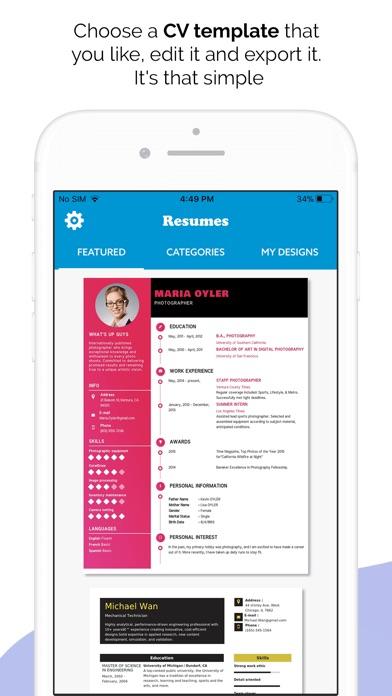 Quick Resume Builder Cv Maker App Price Drops