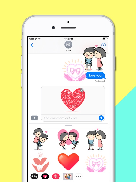 Screenshot #5 pour Couple Fall in Love Stickers