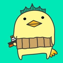 Golden chick sticker pack