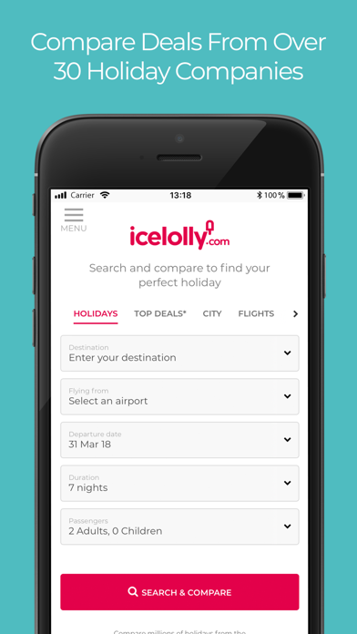 icelolly.com Holiday Finder