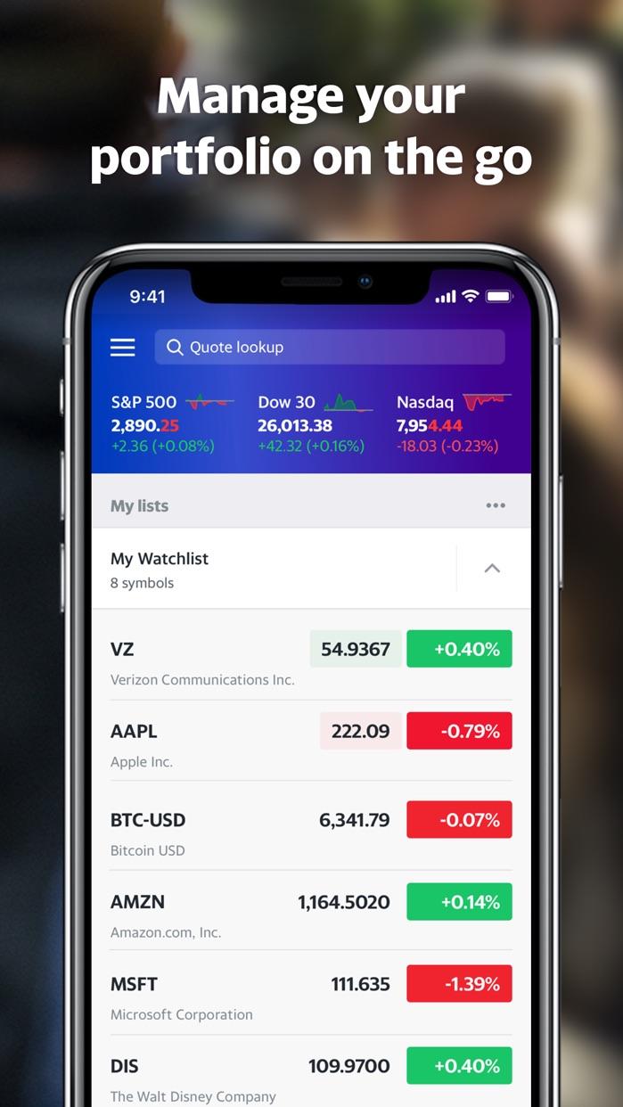 Yahoo Finance Screenshot