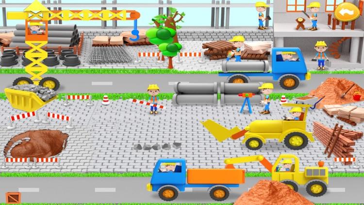 Wimmelbook car + building site