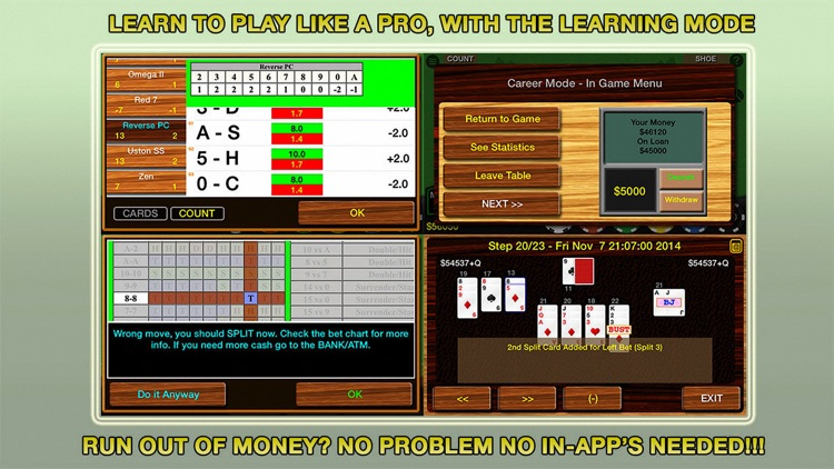 Blackjack 21 Pro Multi-Hand screenshot-3