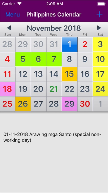 2019 philippines calendar noad