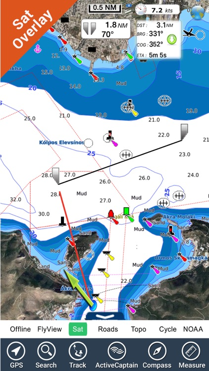 Boating Greece Nautical Charts screenshot-0