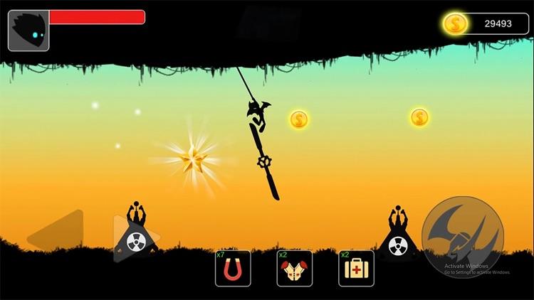 Stickman swing : Rope Swing screenshot-0