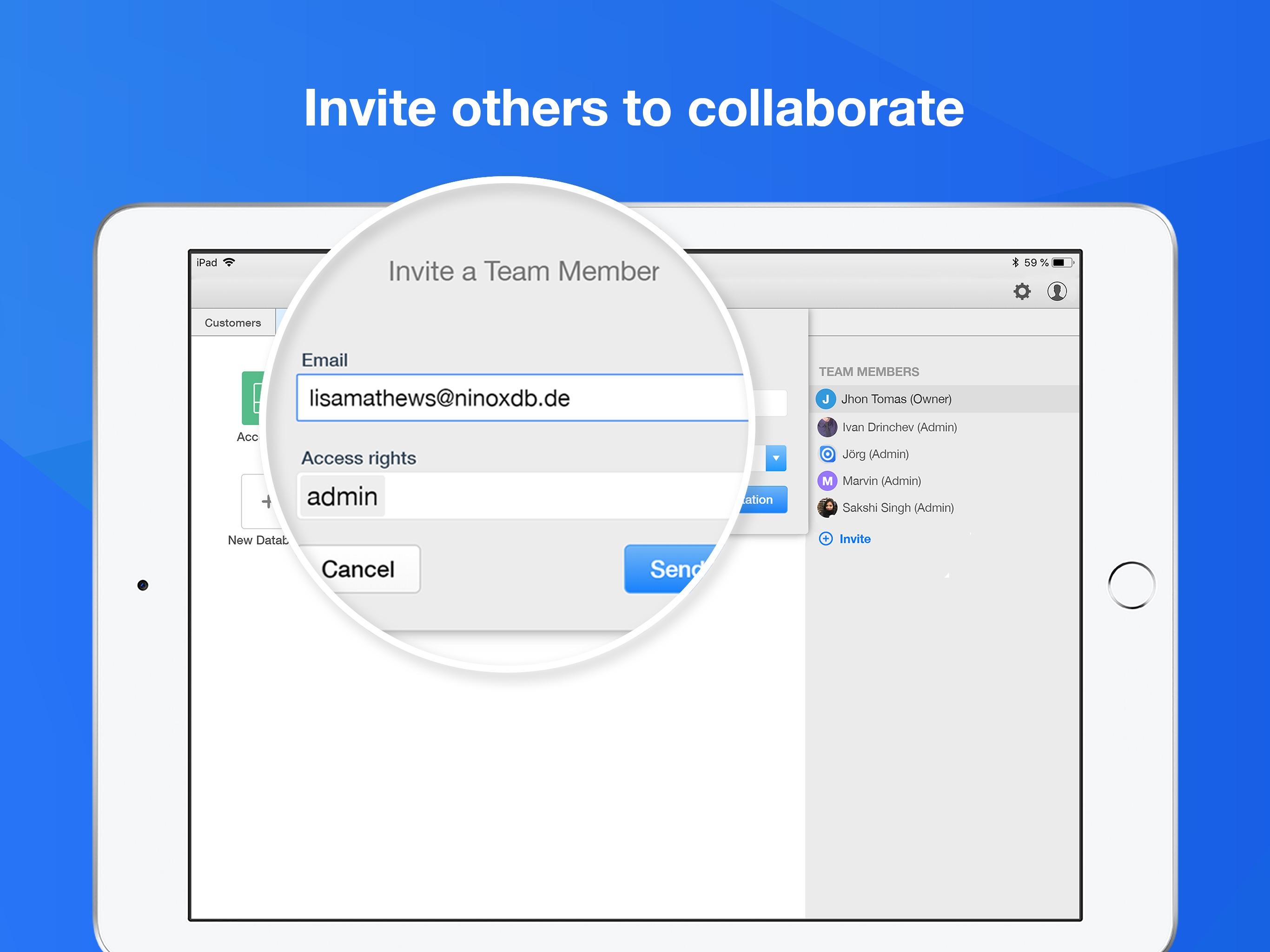Ninox Database for iPad Screenshot