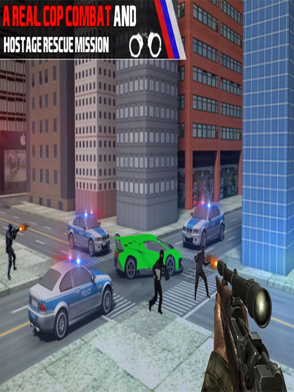 Bank Robbery Shooting Game-ipad-2