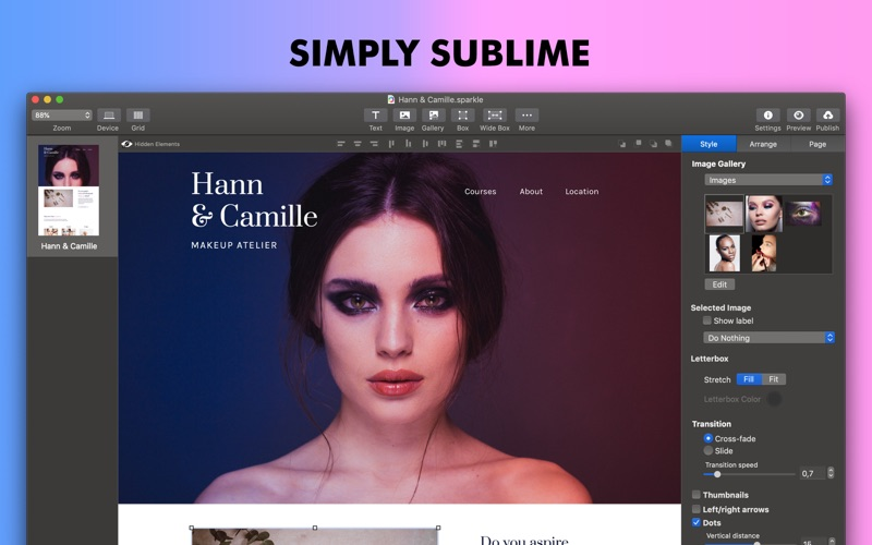Sparkle Visual Web Design review screenshots