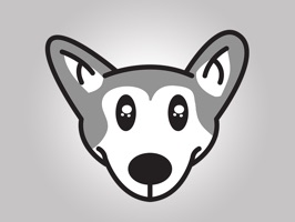Animated Husky