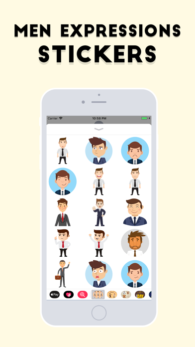 Men Expressions Stickers screenshot three