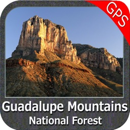 Guadalupe Mountains National Park gps map