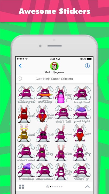 Cute Ninja Rabbit Stickers stickers by CandyASS