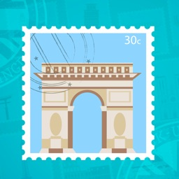 Famous Landmark Stamp Stickers