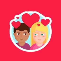 Valentines Day Stickers.