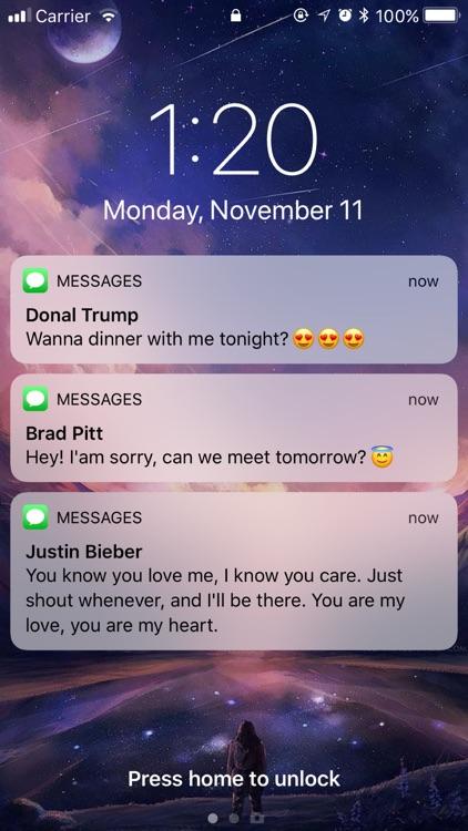 Fake text Message: (Prank)