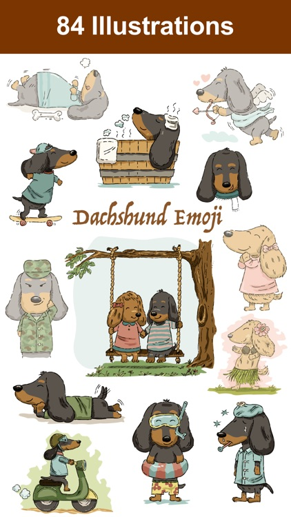 Dachshund Emoji Doxie Stickers screenshot-0