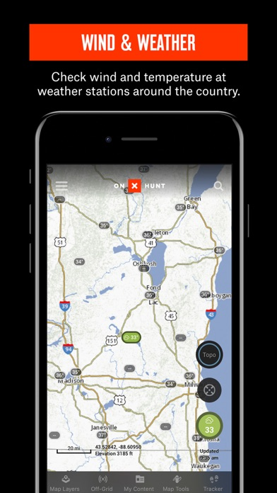 onX HUNT Hunting GPS Maps with Offline US Topo Map - online App Chart