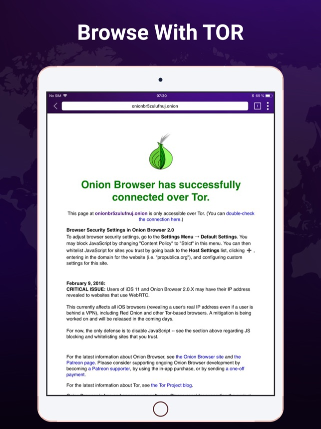 TOR –Powered Web Browser + VPN on the App Store