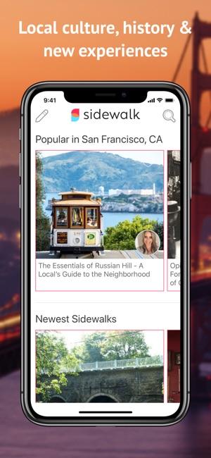 sidewalk walking tours on the app store rh apps apple com
