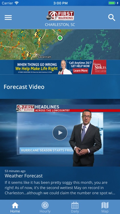Abc 4 First Warning Weather Screens 1