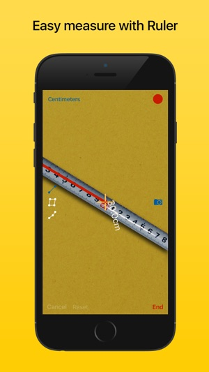 Ruler - tape measure length Screenshot