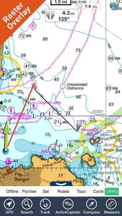 Marine Ireland GPS map offline charts Navigator