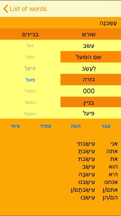 Hebrew Verbs Mobile Screenshot 2