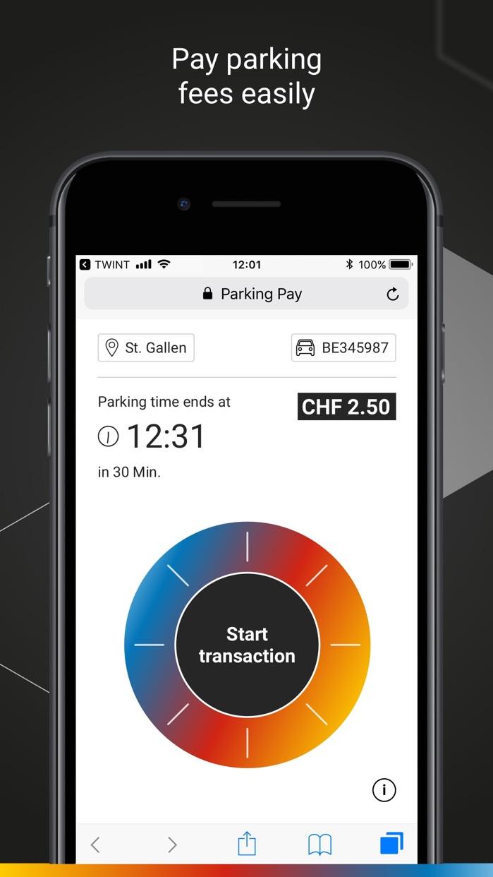 prepaid TWINT & other banks Screenshot