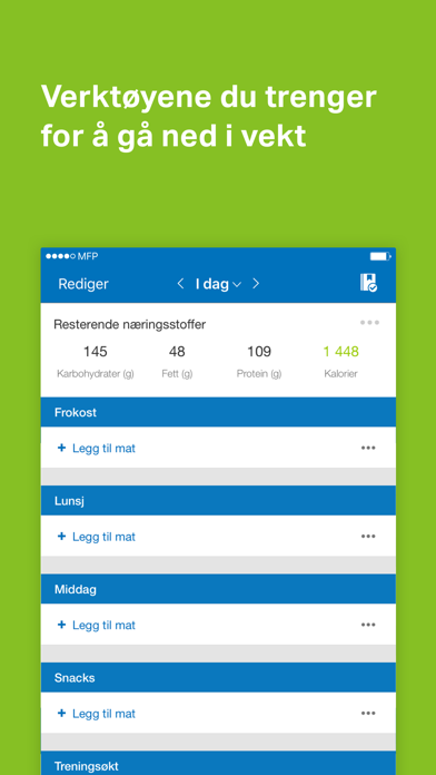 Screenshot for MyFitnessPal in Norway App Store