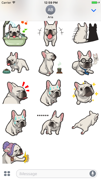 Cute French Bulldog Stickers screenshot 3