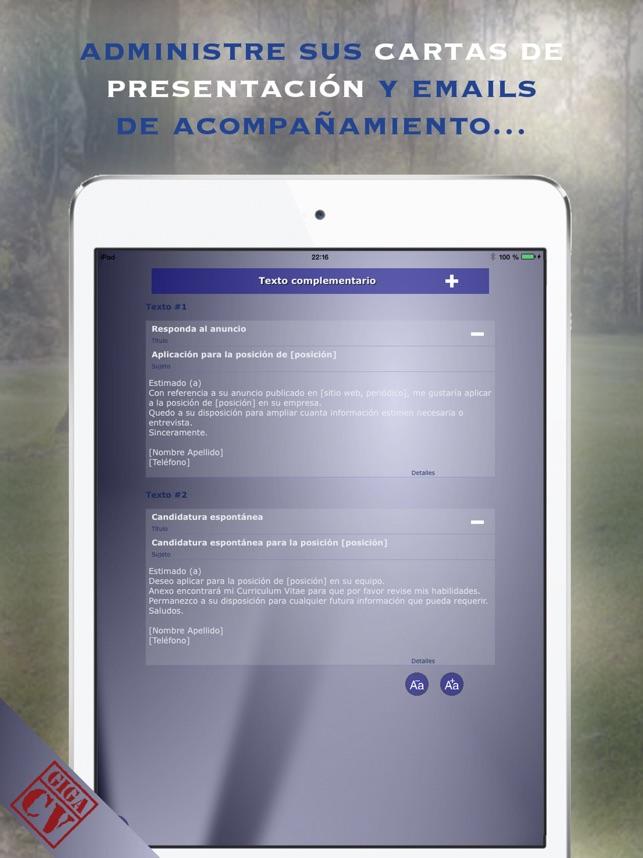giga-cv Su Curriculum en App Store