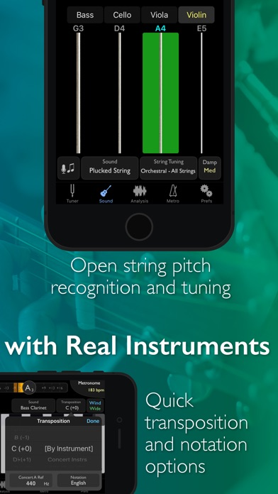 Screenshot for TonalEnergy Tuner & Metronome in China App Store