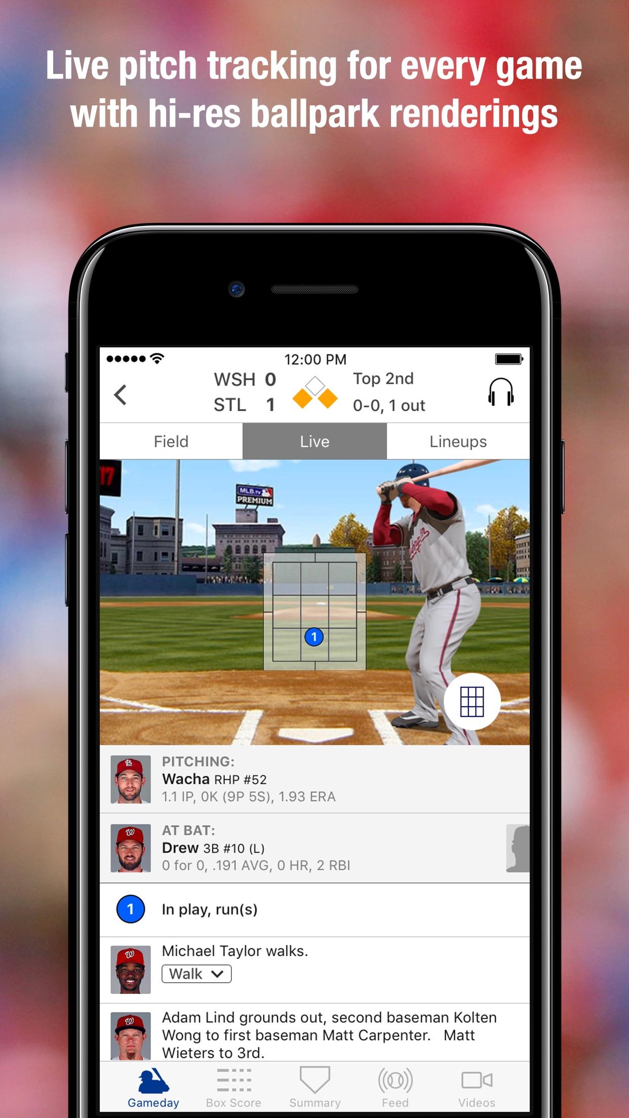 MLB.com At Bat Screenshot