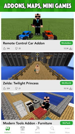 MCPE Planet - Addons, Maps, Skins for Minecraft PE on the