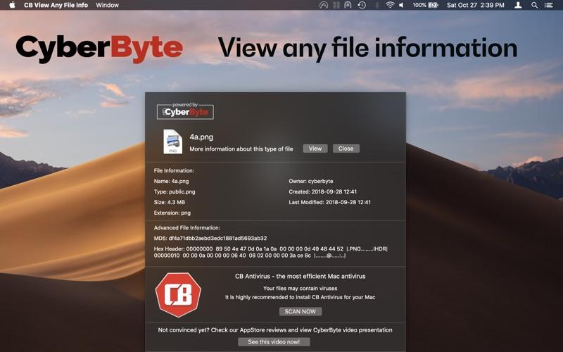 CB View Any File Info Screenshot - 1