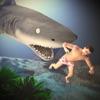 青いクジラのシミュレータゲームの3D - iPhoneアプリ