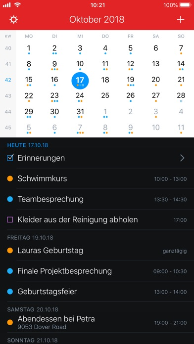 Screenshot for Fantastical 2 für iPhone in Germany App Store