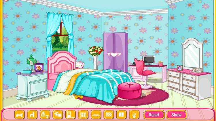 Girly room decoration game screenshot-3